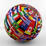 globe-diverse flags