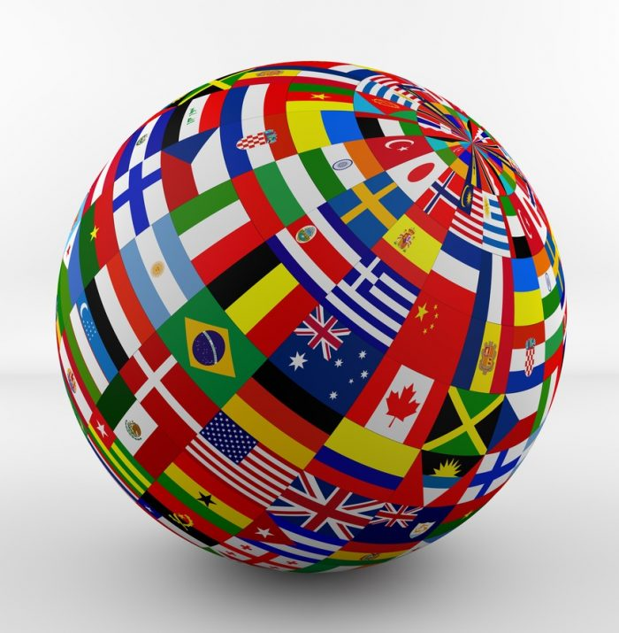 globe-diverse flags