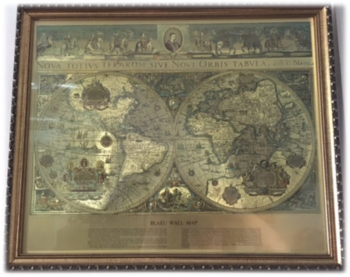 Map in a frame